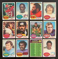 Lot of 12 1976 Topps Football Cards w/ Alan Page, Checklist - Nice Condition