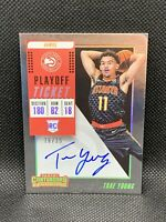 2018 Panini Contenders Trae Young /35 Playoff Ticket Auto