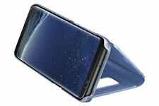 Samsung Galaxy S8 Clear View Stand Cover - Blauw