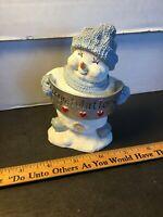 Snow Buddies Congratulations Snow Man Figurine EUC Free Shipping!