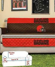 CLEVELAND BROWNS NFL FOOTBALL TEAM SOFA COUCH FURNITURE PROTECTIVE COVER
