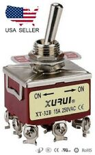 HEAVY DUTY 3PDT ON-ON TOGGLE SWITCH 20A 125V, 15A 250V SCREW TERMINALS (32B)