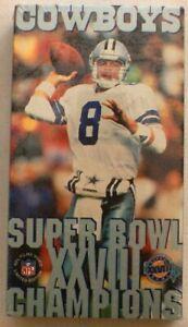 1993 Dallas Cowboys Superbowl XXVIII Championship Season by NFL Films, VHS, NEW
