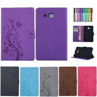 Smart PU Leather Case Cover Wallet Stand For Samsung Galaxy Tablets Tab A E 4 S2