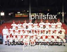 1964 PHILADELPHIA PHILLIES TEAM INSIDE CONNIE MACK STADIUM PHOTO - VERY COLORFUL