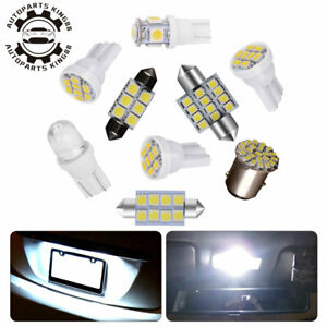 14pcs White LED Interior Package Kit T10 36mm Map Dome License 1157 Lights Bulbs