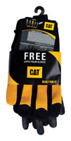 CAT  Men's  Leather/TPR  Utility  Black/Yellow  L  Work Gloves