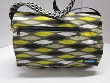 HTF KAVU Rope Cross Body Bag Duffel Purse Messenger Travel Canvas Multi Print VN
