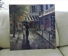 More details for romantic stroll by brent heighton i canvas print i 49cm x 49cm