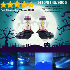 H10 9145 9005 LED Fog Driving Light Bulbs Kit Canbus Lamp 35W 10000K Blue
