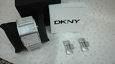 DKNY Womens NY8041 Glitz Wide Bangle