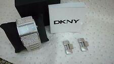 DKNY Womens NY8041 Glitz Wide Bangle
