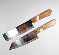 KIWI 171+172 Chef's Kitchen Cook Utility 6.5'' Knives Cutlery Wood Hand