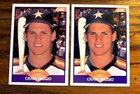 1989 Score #237 CRAIG BIGGIO RC - Astros HOF (2)