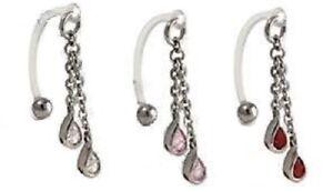 Bioflex Curved Bar + Hanging Gems ~ Female Intimate Piercing, Christina VCH
