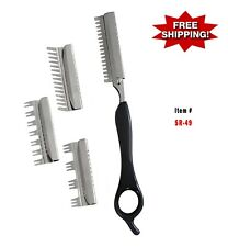 Hair Shaper with 4 interchangeable guides blades ( Stainless Steel )