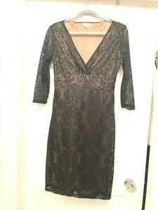 LINDY BOP GORGEOUS BLACK LACE DRESS LONG SLEEVES WOMEN LADIES TEENS SIZE UK 14