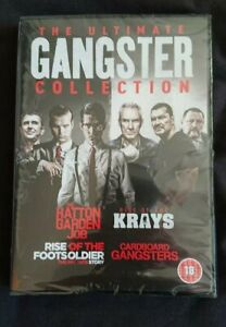 THE ULTIMATE GANGSTER COLLECTION KRAYS HATTON GARDEN RISE OF THE FOOTSOLDIER DVD