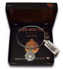NEW SEALED ALEX AND ANI ANCHOR II Wire Bracelet Rafaelian Silver +Tag+Card+Box