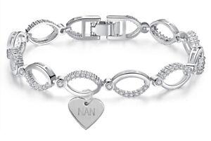 Swarovski® Bracelet Crystals Jewellery Silver Diamond Gift Nan Grandma Nanny Sun