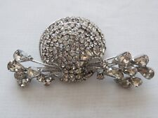Vintage VENDOME Clear Rhinestone Jewelry Large Brooch Pin
