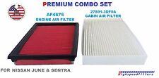 AF4675 27891-3DF0A COMBO Engine & Cabin Air Filter Set for NISSAN Sentra & Juke
