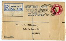 GREAT BRITAIN REGISTRATION USED TO TANGIER 1926, RP40, F, ARRIVAL CDS BACK(X350)