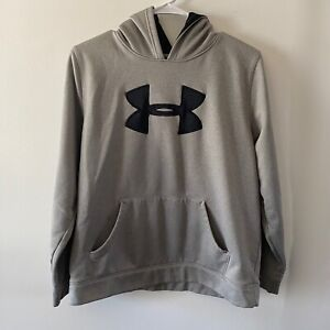 Under Armour Sweatshirt Hooded Gray Boy's XL