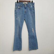 Levis 518 Womens Superlow Boot Cut Jeans 5 Light Wash Cotton Blend Stretch
