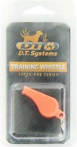 "D.T. Systems Basic Training Whistle for Pets, Orange & 3/4"" Orange Dog Strap"