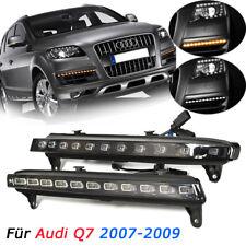 Paar LED DRL Tagfahrlicht Flackern Blinker Nebel Lampe für Audi Q7 2007-2009