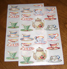 Michel & Company/Gifted Line Lot of TwoSticker Sheet ~ Teapot/Teacups (1994)