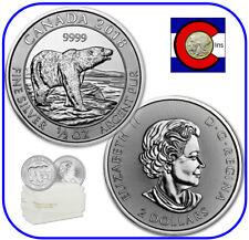 2018 Canada Polar Bear 1/2 oz Silver $2 Canadian Coin - roll/tube of 20 Coins