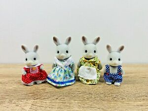 Sylvanian Families Grey Cottontail Rabbit Family Marianne Sorrel Gromwell Willow