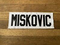 MISKOVIC Game Used Worn Ottawa Senators White Jersey Nameplate