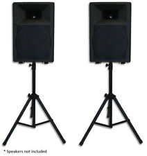 Pair Heavy Duty PA Speaker Stands Tripod Stage Sound