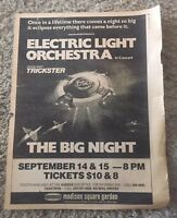 ELO~In Concert 1978 NYC MSG~Full Page Ad~Village Voice~Rare
