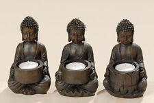 Bouddha Lot de 3 Support de photophore Porte-bougies OBJET STAND POUR PHOTOPHORE