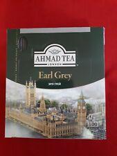 100 Tea Bags Ahmad Tea London Earl Grey Tea  200gr