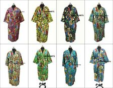 New Screen Printed Farida Kahlo Cotton Kimono Cover Up Bathrobes Beach Kimono