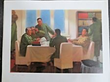 ORIGINAL Chinese Cultural Revolution Poster 1974 Communist Party Leaders Reading