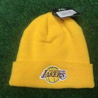 Vintage Rare LA LAKERS Yellow Beanie BNWT Kobe Bryant Brand New