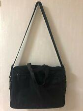 PRADA Men's Women's V407 Black Nylon & Leather Business Bag Laptop Bag - GOOD!