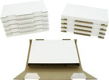 (10) White Sturdy Single DVD Shipping Boxes Mailers Retail Video Games #DVBC01