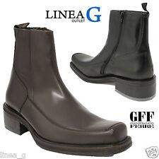GFF Gianfranco Ferrè leather man boots with fur Stivaletti uomo pelle con pelo