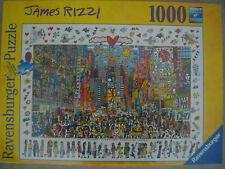 Ravensburger Puzzle 1000 Teile James Rizzi -Times Square Art.-Nr. 19069