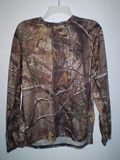REALTREE Shirt Long Sleeve Performance ADULT L Large Camouflage HUNTING Outdoo
