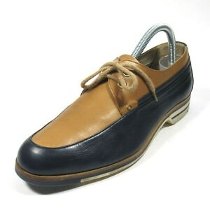 GUCCI Mens Shoes Vintage Late 1970's Navy & Tan EU Size 40.5 - US 7.5