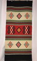 Vtg 4' Southwestern Tapestry Wall Hanging Loom Rug Mexico Aztec Native Blanket