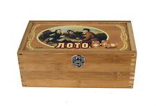 Bingospiel Lottospiel  Bingo Russische Lotto Klassischer Holz Loto Holzkiste